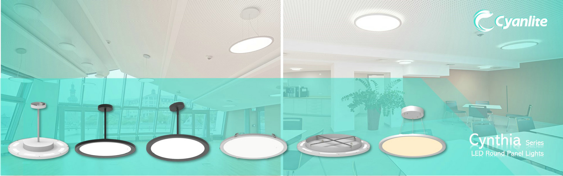 Cyanlite Cynthia LED Round Panel Light