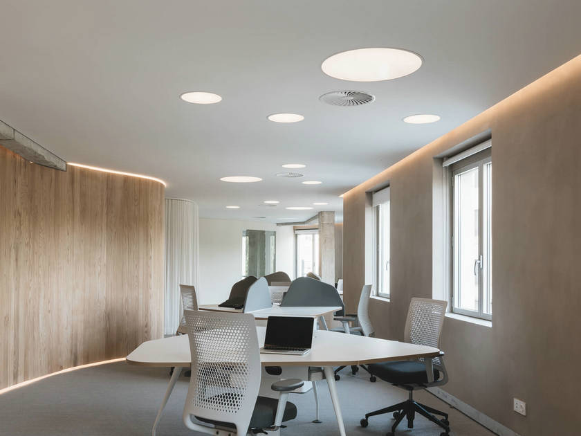 LED round panel light recessed installation project
