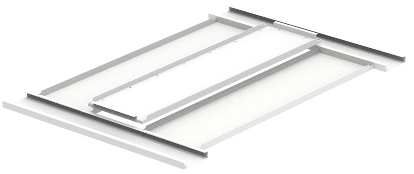 Cyanlite HO330 LED panel light for hook-over metal ceiling installation