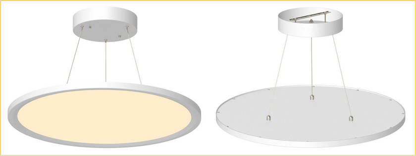 Cyanlite LED round panel light Cynthia Pendant Suspended