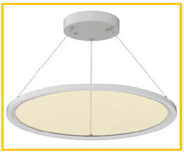 Cyanlite LED round panel light for direct and indirect light transparent