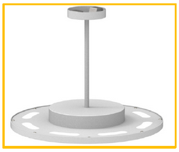 Cyanlite LED round panel light for direct and indirect light stem mounted