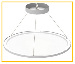 Cyanlite LED round panel light for direct and indirect light
