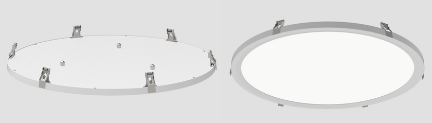 Cyanlite LED round panel light recessed