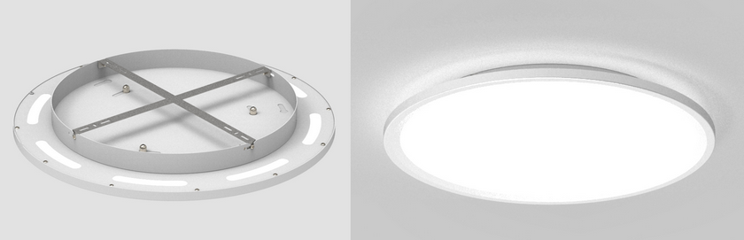 Cyanlite LED round panel light surface mounted direct indirect