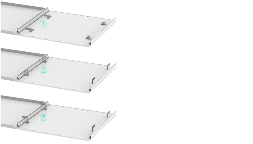 Cyanlite LED panel light CI150 series for Clip-In ceilings installation steps