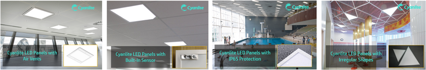 Cyanlite LED Panels with Air vents, IP65 protection, Built-in Sensor