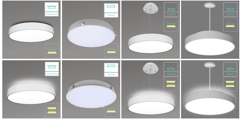 Cyanlite Lunar series architectural LED rounal panel lights