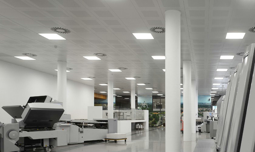 LED panel light for concealed metal ceiling project
