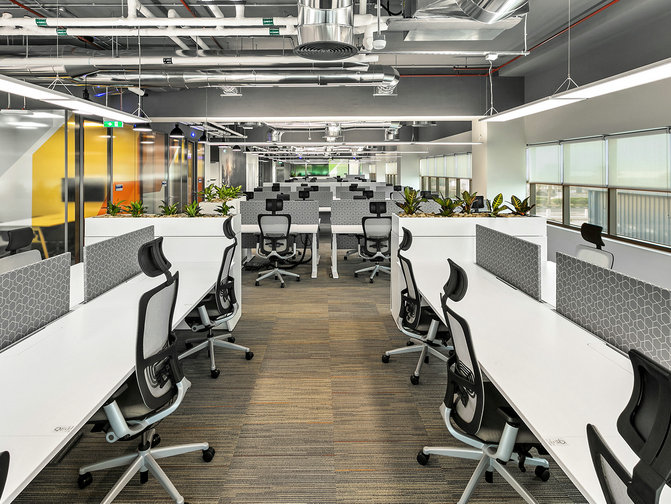 Direct/Indirect LED Panel Light office project in Spain
